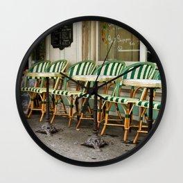 Cafe Views in Paris Wall Clock
