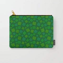 animal crossing floor patterns square summer green Carry-All Pouch