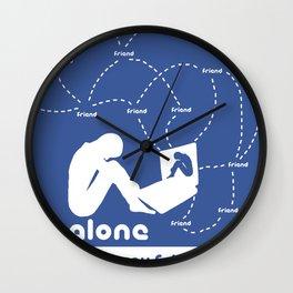 Friendship in the digital age Wall Clock