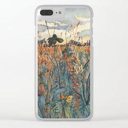 Wildflowers in Velvet Clear iPhone Case