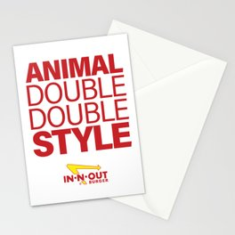 IN-N-OUT Double Double Animal Style Stationery Cards