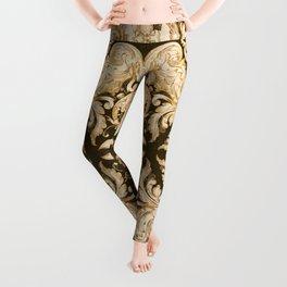 A Modern Vintage Dream (umber background) Leggings