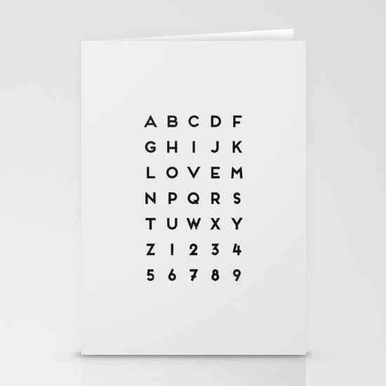 Letter Love - White Stationery Cards