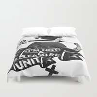 baseball Duvet Covers featuring BASEBALL by DON'T NEED NO SAMURAI