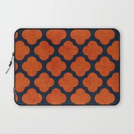 navy and orange clover Laptop Sleeve