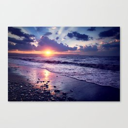 Cyprus. 30 seconds before sunse. Canvas Print