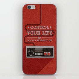 Control your life by yourself iPhone Skin