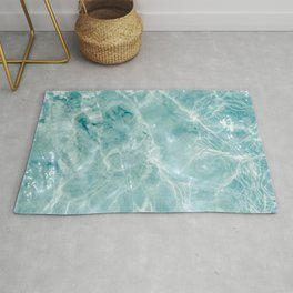 Clear blue water | Colorful ocean photography print | Turquoise sea Rug