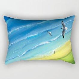 Birds view above sea. Rectangular Pillow