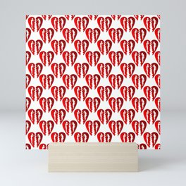 Heartbroken Polka Dot Style Pattern Mini Art Print