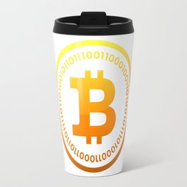BITCOIN Symbol CRYPTO Travel Mug