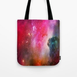 The Red Beautiful Of Interstellar Universe Tote Bag