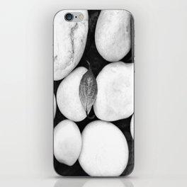 Zen White Stones On A Black Background #decor #society6 #buyart iPhone Skin