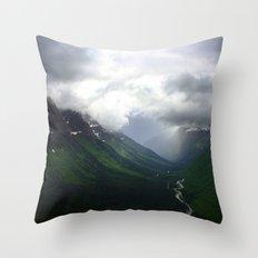 Mystic Mountains Throw Pillow