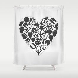 Heart of an animal Shower Curtain