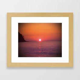 Sunrise July morning at Irakli Bulgaria Framed Art Print