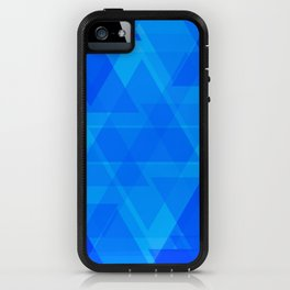 Bright blue and celestial triangles in the intersection and overlay. iPhone Case