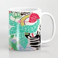 rio de janeiro Mugs featuring RIO DE JANEIRO 001 by Maca Salazar