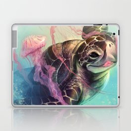 Sea Turtle and Jellyfish! Laptop & iPad Skin