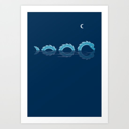 narcissistic nessie Art Print