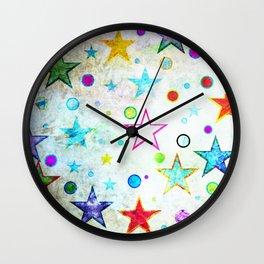 Stars & Circles Fab Pattern Wall Clock