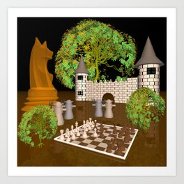 chessworld scholar's mate Art Print