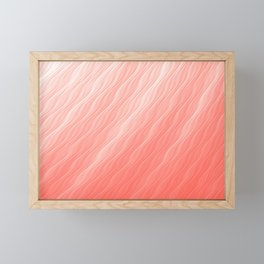Living Coral Wavy Ombre Pattern Framed Mini Art Print