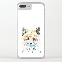 Peekaboo Fox Clear iPhone Case