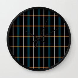 Black vintage grid pattern Wall Clock