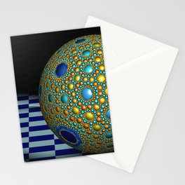 Apollonian sphere packing  Stationery Cards