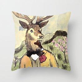 Stag Do Throw Pillow