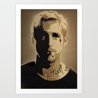 ryan gosling Art Prints featuring Ryan Gosling TPBTP by Andy Rogerson