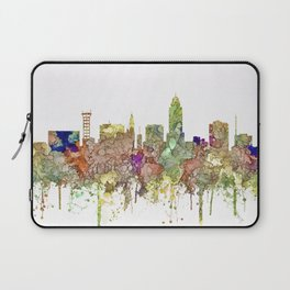 Lincoln, Nebraska Skyline - Faded Glory Laptop Sleeve