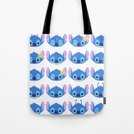 The Many Faces of Stitch Tote Bag