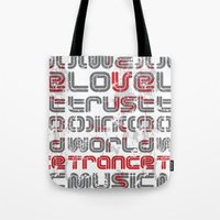 paramore Tote Bags featuring Trust in Trance Music by Sitchko Igor