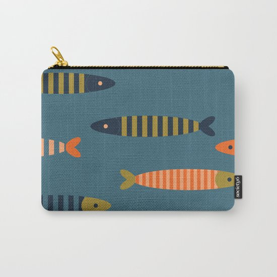 Striped fish pattern Carry-All Pouch