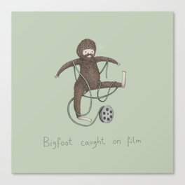 Bigfoot Caught on Film Canvas Print