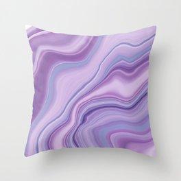 Liquid Unicorn Agate Dream #1 #pastel #decor #art #society6 Throw Pillow