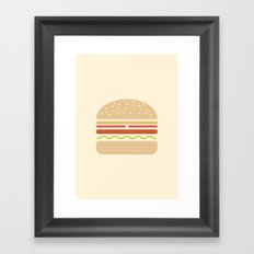 #62 Hamburger Framed Art Print