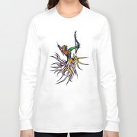 archer Long Sleeve T-shirts featuring Atlantean Archer by Robert Cooper