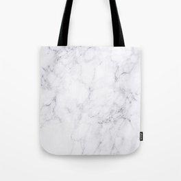 Luxury White Marble Tote Bag