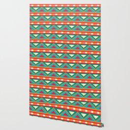 Native Patterned Aztec Wallpaper
