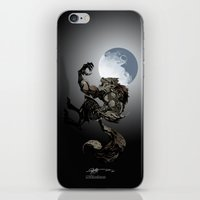 werewolf iPhone & iPod Skins featuring Werewolf by Michelena