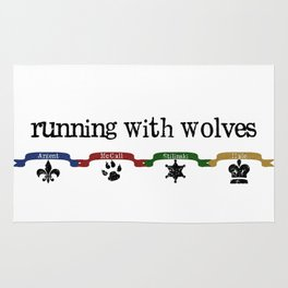 Running With Wolves v2 Rug