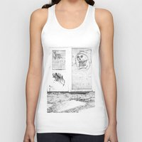 newspaper Tank Tops featuring Death's newspaper booth by Art Pass