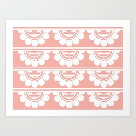 Retrô_Pink Art Print