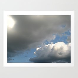 Clouds! Art Print