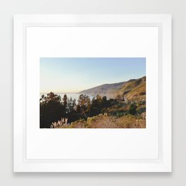 california sunset Framed Art Print