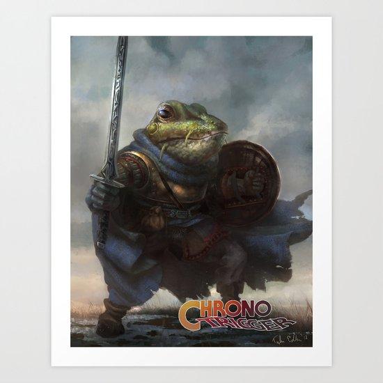 A knightly Frog  Art Print