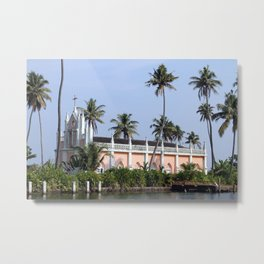 Kerala Church Metal Print
